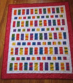 Colorful baby quilt pattern - Fat quarter quilt   needyl