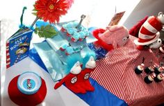 Dr. Seuss party - cute ideas for birthday party, shower, just for fun.
