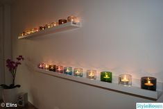 cosy candle lights for the bedroom Desperate Housewives, Cosy, Beautiful Homes, Ikea, Wall Lights, Candles, Housewife, Lighting, Bedroom