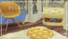Have your pet sleep in style with the cozy Polkadot Pet Bed. Beds come in 16 swatches. I made simple solid colors along with a few mixed ombre colors as well. Sims 4 Mm Cc, Sims Four, My Sims, Sims 4 Cc Furniture, Pet Furniture, Sims 4 Pets, Sims House Design, Best Sims, The Sims 4 Download