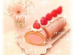 Strawberry recipe 苺のロールケーキ☆レシピ