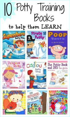 10 Great Potty Training Books for Kids  to use while potty training ~ From: Growing A Jeweled Rose