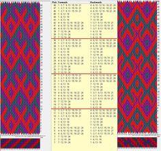 24 tarjetas hexagonales, 3 colores, repite cada 12 movimientos // sed_823_c6 diseñado en GTT༺❁