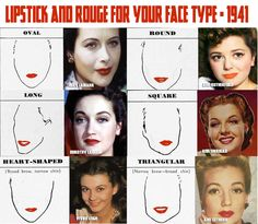 Lipstick-and-Rouge-for-your-face-Shape---1940s