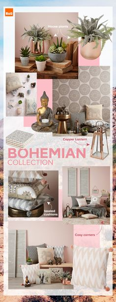 Introducing our NEW Bohemian decor collection - Create a relaxing bohemian boudoir by adding soft tones and tons of texture to your home this season. Our new spring/summer decor collection is full of charm, so your mood will feel as serene as your home. My Living Room, Living Room Decor, Bedroom Decor, Bedroom Furniture, Bedroom Ideas, Dining Room, Bedroom Images, Rattan Furniture, Bedroom Themes