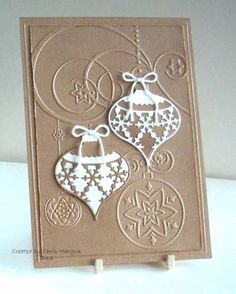 """Lovely """"Baubles"""" Christmas Ornament Card...Chris Margrie - Cards and Paper Crafts at Splitcoaststampers."""