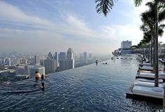 The SkyPark at Marina Bay Sands Integrated Resort, Singapore.