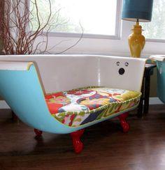 banheira virou sofá