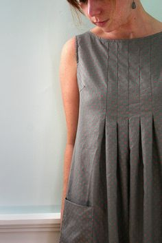 Dress E, sleeveless, via Flickr. Made using a Japanese sewing pattern. Pattern overview