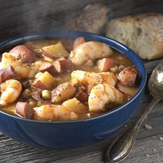 Break bread over savory soup! Try our Frogmore Stew recipe.