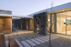 Wanaka house by Crosson Clarke Carnachan Architects Gabion design