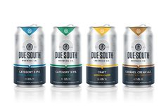 Due South Brewing Co. — The Dieline - Branding & Packaging Design