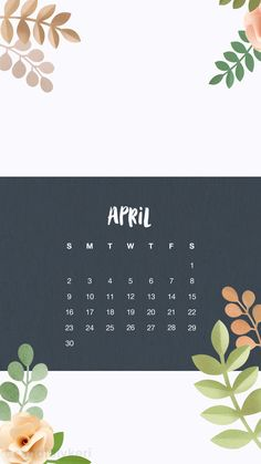April calendar 2017 wallpaper you can download for free on the blog! For any device; mobile, desktop, iphone, android!