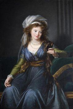 leshasardsheureuxdelescarpolette:  Elisabeth-Louise Vigée-Lebrun, Portrait de la Comtesse Skavronskaia 1790  ♥