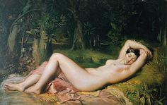 Théodore Chassériau, <i>Nymphe endormie près d'une source</i>