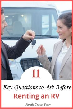 Necessary questions to ask before signing a rental agreement and driving off in an RV. FAQs about insurance, damages, additional charges, generator, and reserving campsites. Renting an RV for the first time can be exciting but like slide outs, hookups, power sources, and blackwater tank may be unfamiliar. You need to know all these things and more before you rent an RV and reserve camp-spots. Based on my years of experience, I cover the basic questions you need to ask before renting an RV. Questions To Ask, This Or That Questions, Rent Rv, Rv Rental, Campervan, Van Life, Motorhome, Family Travel, First Time