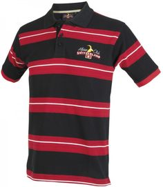 Poloshirt gestreift, schwarz, rot, weiss / Poloshirt touched, black, red, white / well washably / high-quality / simply and comfortable T-shirt Pullover, Polo Ralph Lauren, Mens Fashion, Switzerland, Red, Mens Tops, Black, Red Black, Clothing