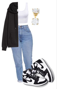 Swag Outfits For Girls, Teenage Girl Outfits, Cute Swag Outfits, Cute Comfy Outfits, Girls Fashion Clothes, Teen Fashion Outfits, Retro Outfits, Stylish Outfits, Looks Pinterest