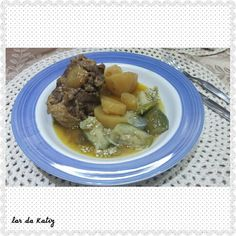 Rabada com batatas e jilo