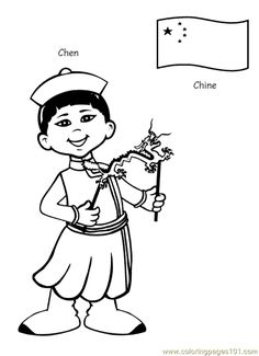 free printable coloring page Kids From Around The World 002 (Cartoons ...
