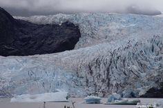 Visiting Mendenhall Glacier outside of Juneau Alaska