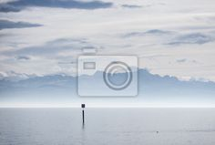 View from lake constance into swiss alps - Fototapeten - myloview 171,-