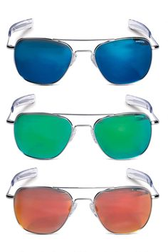 ad97df3645 Aviator Vector Mirrored Sunglasses from Randolph Engineering®