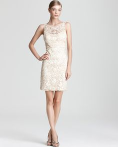 Sue Wong Cocktail Dress - Lace   Bloomingdale's - Loving the neckline on this one. Classy silhouette and fun low back, too.