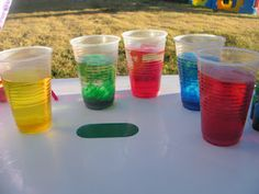 The Imperfect Housewife: Rainbow water play
