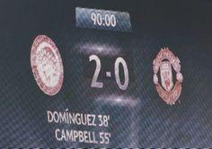 Olympiacos - Man. United The Unit, Football, Man United, Gate, Sports, Soccer, Manchester United, Hs Sports, Futbol