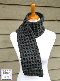 The Waffle Stitch Crochet Scarf is a beautifully textured scarf that makes a wonderful charity scarf or a fabulous gift scarf. Crocheted in the easy to work up waffle stitch, it is the perfect neutral