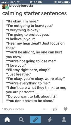 Starter sentences