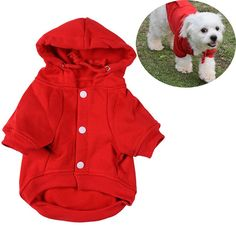 Our buttoned up dog hoodie is great for wearing around the house, or outdoors on those long walks to keep your dog warm. https://www.dressyourdoggy.com/collections/hoodies/products/buttoned-cotton-dog-hoodie-3-colors?variant=27486728137