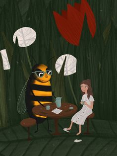 Bee, Painting, Paintings, Draw, Drawings