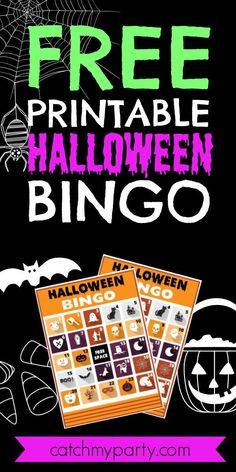 If you're throwing a kids' Halloween party, or even one for adults, how about using these FREE printable Halloween bingo cards as an easy activity to entertain your guests? See more party ideas and share yours at CatchMyParty.com #catchmyparty #partyideas #freeprintable #halloweenbingo Halloween Bingo Cards, Halloween Activities, Halloween Kids, Halloween Party, Halloween Celebration, Family Games, Free Printables, Free Printable, Halloween Parties
