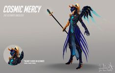 ArtStation - Overwatch - Fan skin: Cosmic Mercy_Ultimate angelica, Julie Maria Tøllefsen