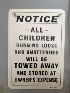 Notice to all children