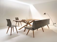 Designer furniture in the online shop of ›Design-Kiste. Kitchen Banquette, Kitchen Nook, Dining Room Table, Dining Bench, Dining Chairs, Design Tisch, Room Inspiration, Kitchen Design, Furniture Design
