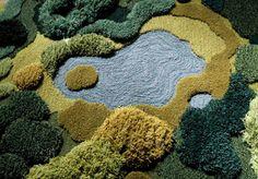 Pile of rya rug.