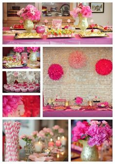 #pink #bridal #shower. Design by @j29events www.j29events | catering by Aunt Kathy Catering