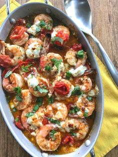 Shrimp with Roasted Tomatoes Shaved Garlic and Feta (italian appetizers shrimp)