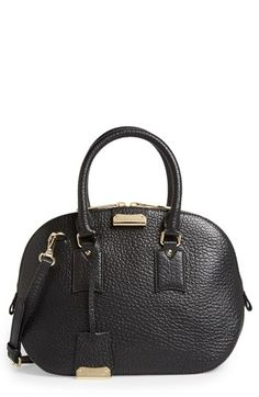 Burberry  Orchard - Small  Leather Satchel available at  Nordstrom Black  Leather Handbags, 9188562ebe