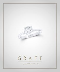 Beautifully simple in design and aesethic, the Graff Paragon setting features an elegant platinum band complemented by a single diamond. Graff Jewelry, Diamond Jewelry, Wedding Engagement, Wedding Rings, Brand Identity, Playground, Wedding Planning, Diamonds, Band