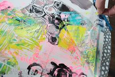 alisaburke: plastic bag printmaking via creaturecomforts Alisa Burke, School Art Projects, Group Projects, Art Plastique, Art Activities, Print Artist, Fabric Painting, Printing On Fabric, Gelli Printing
