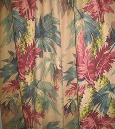 1940s-50s cotton bark cloth - tropical design drapery panels Drapery Panels, Drapes Curtains, Bark Cloth, Mocha Color, Tropical Design, Vintage Textiles, Fabric Wallpaper, Vintage Cotton, Vinyl Flooring