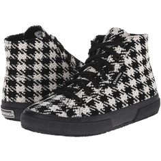 Womens Shoes Superga 2795 Wool Black/White