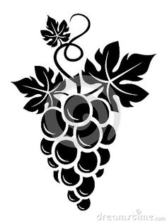 Illustration about Vector illustration of black silhouette of bunch of grapes with leaves. Illustration of pattern, curve, grapes - 29668494 Vogel Silhouette, Black Silhouette, Silhouette Design, Stencils, Stencil Painting, Fabric Painting, Stencil Patterns, Stencil Designs, Wood Burning Patterns