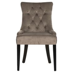 Diamond-tufted side chair with cotton upholstery and birch wood framing.    Product: Set of 2 chairsConstruction M...