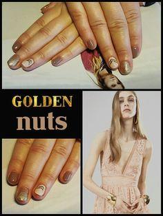 #golden #nuts #goldlines #bling #nude #nailstutorial #happyhands #laimingosrankos #didierlab #no32 #no42