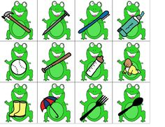 Carrie's Speech Corner:  Free Download...Frog themed Go-Together Game